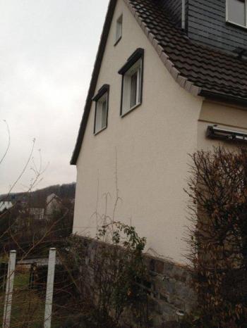 Diese komplett verputzte Doppelhaushälfte mit einer Hohlschicht von 5 cm wurde mit Knauf Supafil Mineralwolle gedämmt.